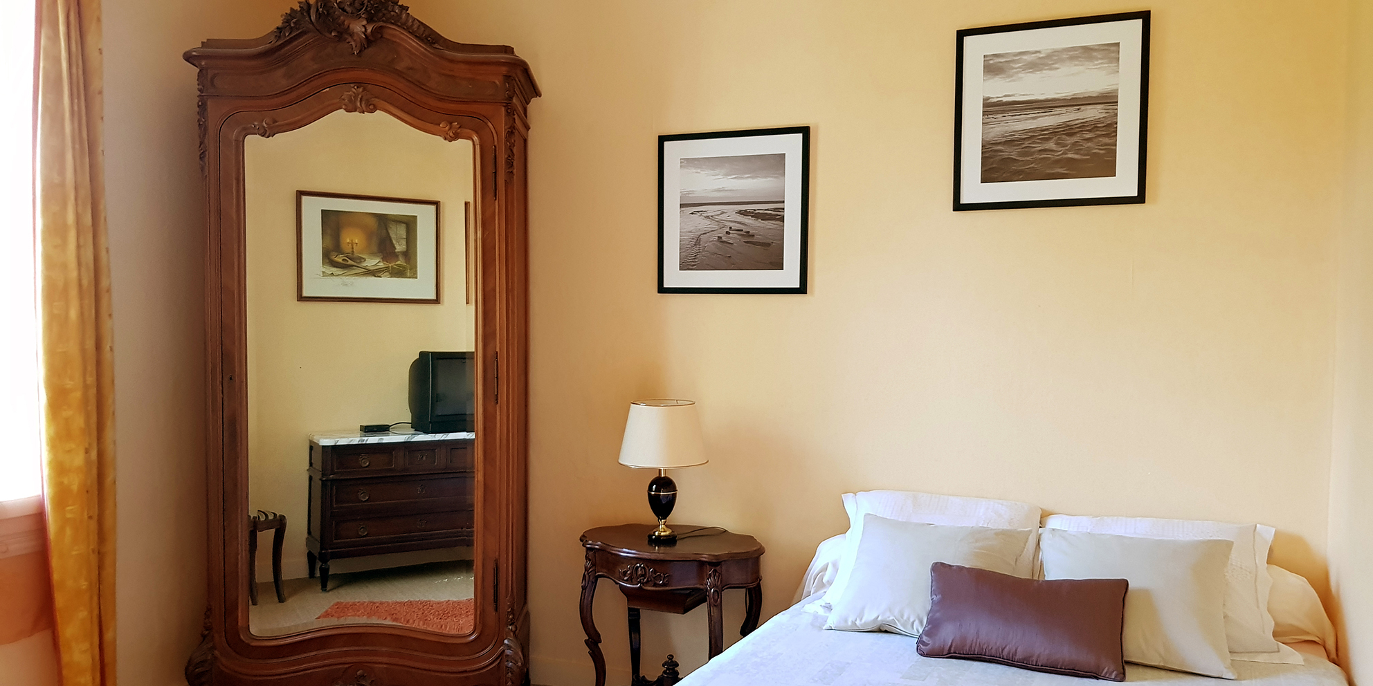 Trois chambres spacieuses et confortables